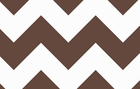 Large Chevron Cotton Fabric Brown