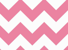 Large Chevron Cotton Fabric Hot Pink