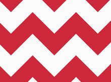 Large Chevron Cotton Fabric Red