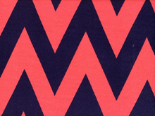 "Large Chevron Jersey Navy & Coral  <br><FONT COLOR=""fc7db0"">Employee Favorite!</FONT>"