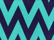 "Large Chevron Jersey Navy & Teal  <br><FONT COLOR=""fc7db0"">Employee Favorite!</FONT>"