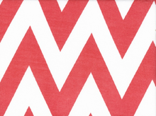 "Large Chevron Jersey White & Coral  <br><FONT COLOR=""fc7db0"">Employee Favorite!</FONT>"