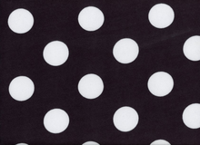 Large Polka Dot Jersey Knit Black and White