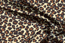 Leopard Print Satin Brown