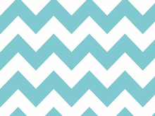 Light Blue Chevron Stripe Cotton Fabric