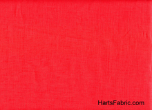 Linen Broadcloth Coral Red