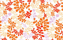 Lizzy House Outfoxed Orange Forest Leaves Cotton Fabric
