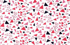 SALE Lizzy House Outfoxed Red Multi Colored Triangles Cotton Fabric