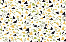 SALE Lizzy House Outfoxed Yellow Multi Colored Triangles Cotton Fabric