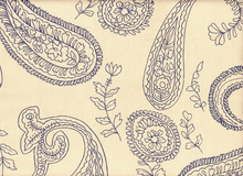 London Paisley Duck Organic Cotton Grape