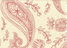 London Paisley Duck Organic Cotton Tomato Red
