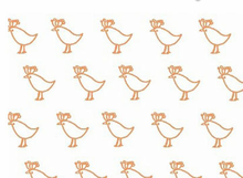 Lotta Jansdotter Bella Fabric Chicks Rust