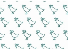 Lotta Jansdotter Bella Fabric Chicks Teal