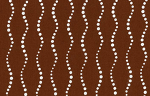 Lucky Penny Dotty Wave Cotton Brown