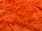 Luxury Shag Faux Fur Neon Orange