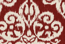 "Medallion Cotton Rayon Upholstery Fabric Sangria <br><FONT COLOR=""fc7db0"">Employee Favorite!</FONT>"