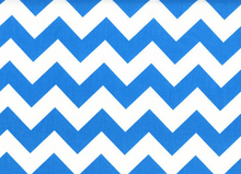Medium Chevron Cotton Neon Blue