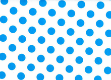 Medium Polka Dots Cotton Neon Blue
