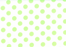 Medium Polka Dots Cotton Neon Green