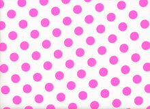 Medium Polka Dots Cotton Neon Pink