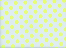 Medium Polka Dots Cotton Neon Yellow