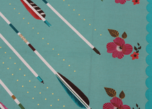 Melody Miller Arrows Linen Green