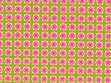 Pink Flower Tile Cotton Fabric