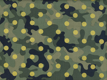 Metallic Glamo Camo Dot Cotton Hunter