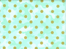 Metallic Glamo Camo Dot Cotton Mint