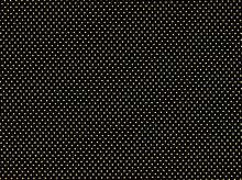 Metallic Polka Dot Cotton Gold and Black
