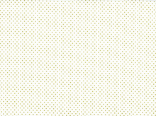 Metallic Polka Dot Cotton Gold and White