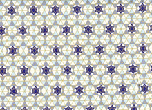 Metallic Star of David Cotton Natural