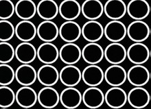 Metro Living Mod Circles Cotton Black