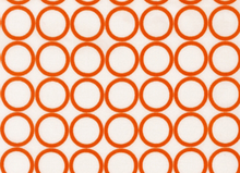 Metro Living Mod Circles Cotton Carrot