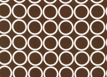 Metro Living Mod Circles Cotton Chocolate