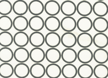Metro Living Mod Circles Cotton Grey