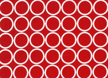 Metro Living Mod Circles Cotton Red