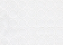Metro Living Mod Circles Cotton Snow