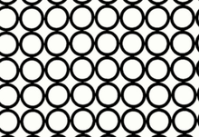 Metro Living Mod Circles Cotton White