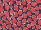 Metro Market Strawberries Cotton Navy