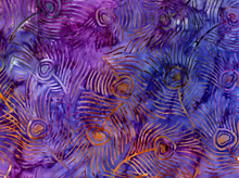 Michael Miller Feather Batik Grape