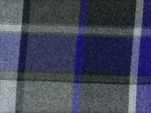 Midweight Plaid Wool Blue