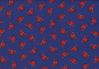 Mini Crabs Cotton Navy
