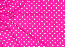 Mini Polka Dot Swimwear Knit Fabric Bright Pink