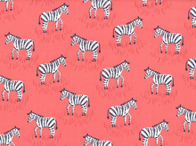 Mini Zebras Cotton Coral