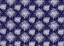 Mint to Be Splotch Dot Cotton Navy