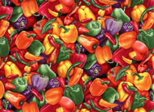 Mixed Peppers Cotton Multi