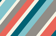 Mod Squad Stripe Coral Organic Cotton Fabric From Birch