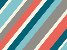 Birch Mod Squad Stripe Organic Cotton Coral