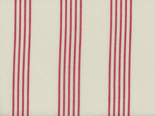 Moda Allover Stripe Toweling Cream and Red